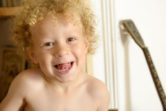 Portrait of a young blond boy Royalty Free Stock Photo