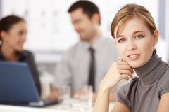 Portrait of young blond businesswoman Royalty Free Stock Photo