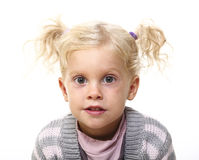 Portrait of young blond girl Royalty Free Stock Images