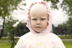 Portrait of a young blond girl Royalty Free Stock Images