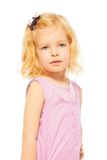 Portrait of young blond girl with blue eyes Royalty Free Stock Image