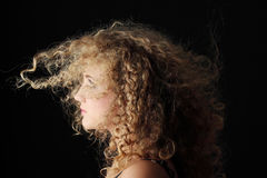 Portrait of a young blond woman Stock Images