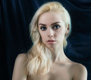 Portrait of young blond woman. Royalty Free Stock Images