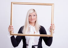 Portrait of a young blond woman Stock Photography