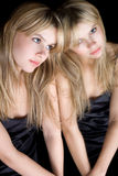 Portrait of the young blonde Royalty Free Stock Image