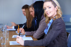 Portrait of young blonde businesswoman Stock Photos