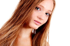 Portrait of young blonde girl Royalty Free Stock Images