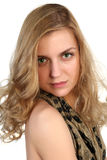 Portrait of a young blonde attractive girl Royalty Free Stock Photos