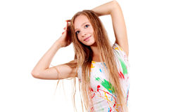 Portrait of young blonde woman Stock Images