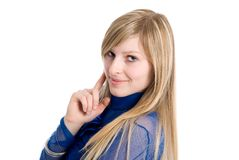 Portrait of a young, blonde woman Royalty Free Stock Image