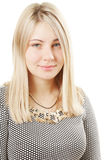 Portrait of blonde woman against white Royalty Free Stock Photos