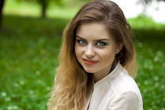 Portrait of young blonde woman Royalty Free Stock Images