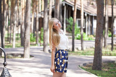 Portrait of young blonde woman Royalty Free Stock Photo