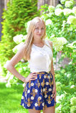 Portrait of young blonde woman Royalty Free Stock Photography