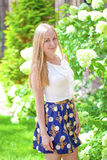 Portrait of young blonde woman Royalty Free Stock Photos