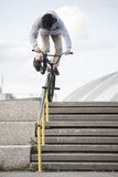 Portrait of young bmx rider Royalty Free Stock Photos