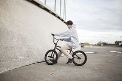 Portrait of young bmx rider Stock Images