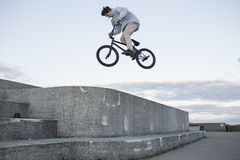 Portrait of young bmx rider Stock Photo