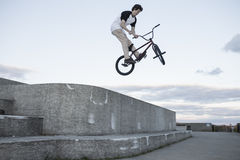 Portrait of young bmx rider Royalty Free Stock Photo