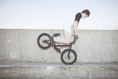 Portrait of young bmx rider Royalty Free Stock Images