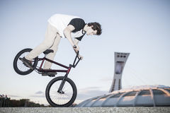 Portrait of young bmx rider Royalty Free Stock Photography