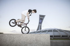 Portrait of young bmx rider Stock Photography