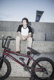 Portrait of young bmx rider Stock Image