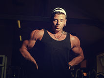 Portrait of a young bodybuilder Royalty Free Stock Photos