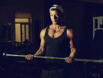 Portrait of a young bodybuilder Royalty Free Stock Images