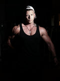 Portrait of a young bodybuilder Royalty Free Stock Photo