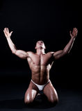 Portrait of young bodybuilder man Stock Photo