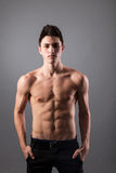 Portrait of young bodybuilder man royalty free stock photos