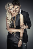 Portrait of young bold lovers Royalty Free Stock Images