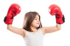 Portrait of a young boxer girl Stock Photos