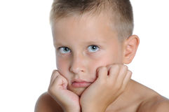 Portrait of a young boy Stock Photos