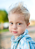 Portrait of a young boy. Portrait of a boy against nature Royalty Free Stock Photography