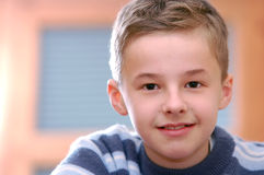 Portrait of young boy. Thinking Royalty Free Stock Photo