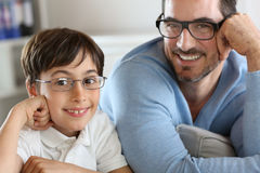 Portrait of man and boy Royalty Free Stock Photography