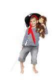 Portrait of young boy dressed as pirate Stock Image