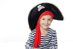 Portrait of young boy dressed as pirate Royalty Free Stock Photos