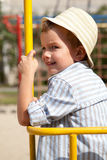 Portrait of  young boy in  hat Royalty Free Stock Photography