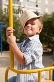 Portrait of  young boy in  hat Royalty Free Stock Photos