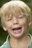 Portrait Of Young Boy Laughing Royalty Free Stock Photography