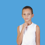 Portrait of a young boy looking at the camera Stock Photos