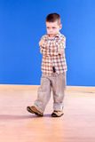 Portrait of a young boy with looking troubled Stock Photography