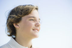 Portrait of Young Boy Outdoors Stock Photography