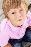 Portrait of young boy outdoors Stock Image