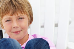 Portrait young boy outdoors Stock Photo