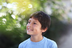 Portrait of young boy outside Royalty Free Stock Image