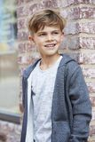 Portrait of a young boy, outside Royalty Free Stock Photo